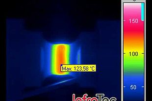 Thermography image material stress test