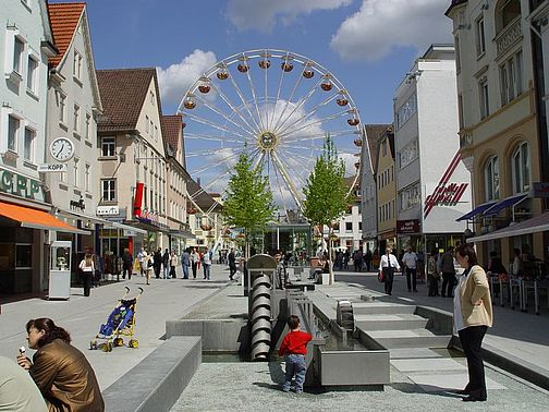 View of the Ferris wheel in Göppingen