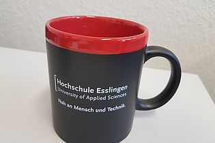Cup with inscription Hochschule Esslingen