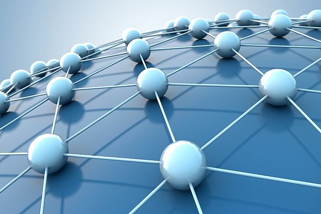 Illustration of a stylized network