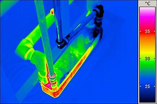 Thermographic image of a heat exchanger
