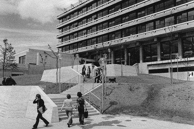 View of the Fachhochschule für Sozialwesen building in the 1970s