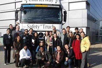 Picture of The Esslingen MBA on a company visit