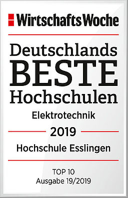 "Award of the ""Wirtschaftswoche"" with Germany best university electrical engineering."
